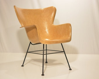Peabody Fiberglass Chair for Selig in Butterscotch