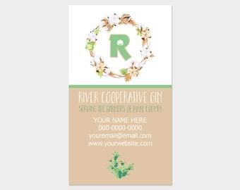 Reserved. Custom business cards, printable digital download (DP210)