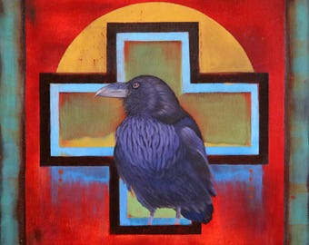 WATER IS LIFE -  raven, crow, native american, indian, corvid, love