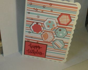 Hand made 'Happy Birthday ' card