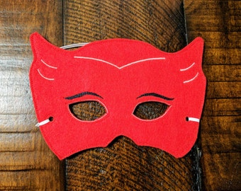 PJ Masks Owlette costume mask with elastic, Kids birthday party, party favor, Halloween