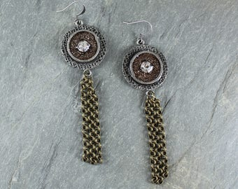 Bohemian Chic ~ Gold and Silver Mixed Metal earrings