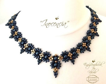 """Beading Kit: """"Inocencia""""  Beads Only! Necklace in English D.I.Y"""