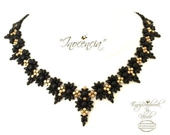"Beading Pattern: ""Inocencia"" Necklace in English D.I.Y."