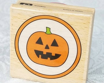 Jack O Lantern Rubber STamp by Studio G, PUmpkin rubber stamp, pumpkin stamp, Halloween Stamp, Halloween Rubber Stamp, Jack O Lantern Stamp