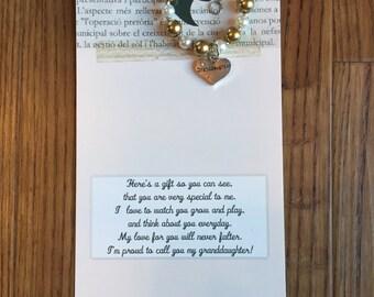 Granddaughter gift etsy granddaughter bracelet granddaughter jewelry granddaughter gift grandaughter present granddaughter birthday gift negle Gallery