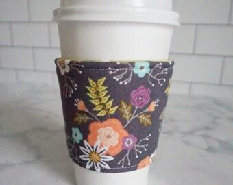 Reusable Coffee Sleeve-Bloom Print