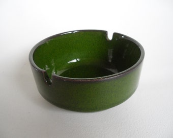 Bauscher Weiden german pottery ashtray,ceramic ashtray,Vintage ashtray,collectible ashtray,rare pottery ashtray,green ashtray