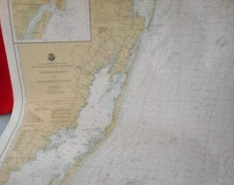 RARE 1983 Datum 1927 Map East Coast Fenwick Island DE Ocean City MD to Chincateague