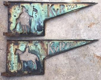 Copper Weathervane Weathervanes KVP Soldier Political Party