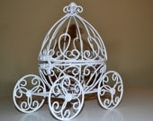 Reserved for Beth Gold Miniature Cinderella Carriage