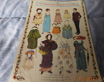 Merrimack Kate Greenaway Antique Embossed Cut Out Paper Dolls