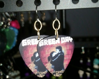Green Day Guitar Pick Earrings