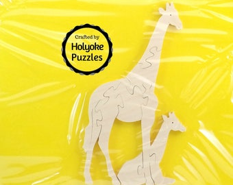 Giraffe Wood Puzzle - Color Your Own Craft Puzzle - Kids Craft Project