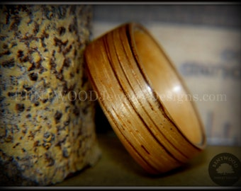 Bentwood ZebraWood Ring with Maple Liner Handcrafted Durable and Unique