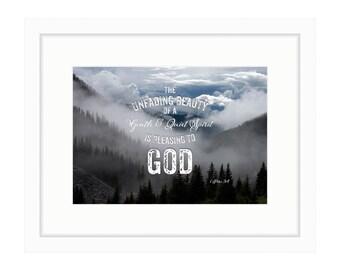 A Gentle and Quiet Spirit - Bible Verse Art - 1 Peter 3:4