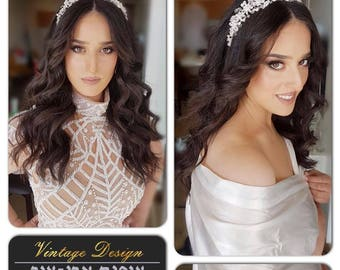 Wedding Headpiece, Crown, Bridal Tiara, Crystal Headpiece