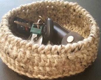 PDF Short Basket Tray crochet pattern