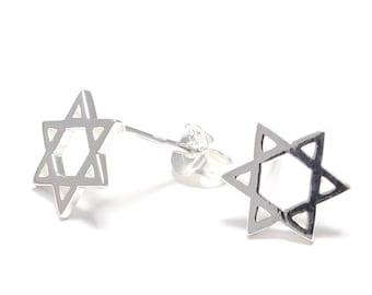 Hexagram Silver earrings 925 sterling silver