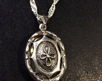 Silver locket on chain