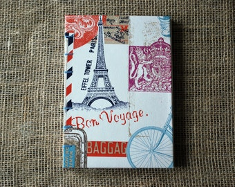 Travel journal, hardback journal, lined journal,  A5