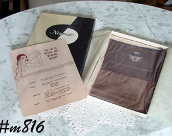 2 Pairs of Royal Vintage Seamed Nylons Seamed Stockings Size 8 1/2 (Inventory #M816)