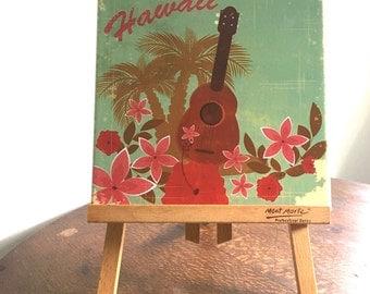 Vintage Hawaii Ceramic Tile Wall Plaque