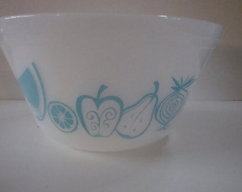 """FREE SHIPPING Federal Turquoise Fruit Bowl 9"""""""