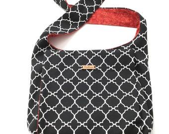 Jet black Lattice Weather Resistant  JW Ministry Bag