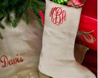 Jute and Kringle Stockings