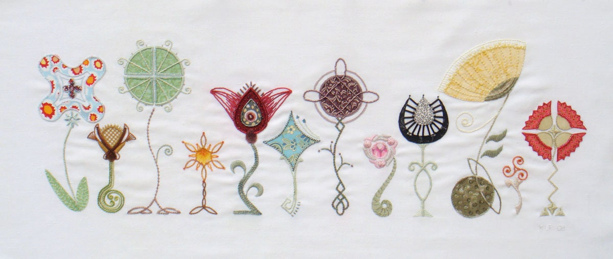 Celtic stems modern hand embroidery pattern