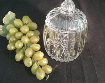 A046  Glass sugar bowl , sugar bowl , sugar bowl with lid