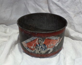 Galvanized Tin, Striped Hercules 4 Quart, Vintage Country, Farm and Barn Salvage