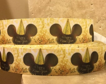 5 YDS Mickey Mouse Happy New Year Ribbon