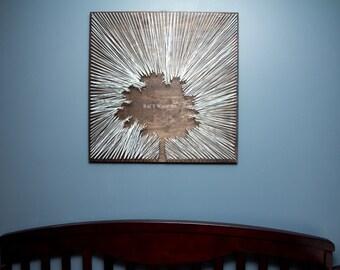 Tree Artwork, Nature Art, Tree Home Decor, Tree Silhouette, Tree String Art, office wall art, office art