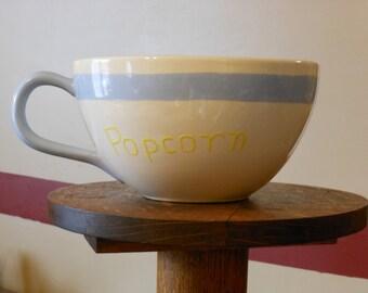Arnels Pottery Vintage Giant Tea Cup for Popcorn/Chips