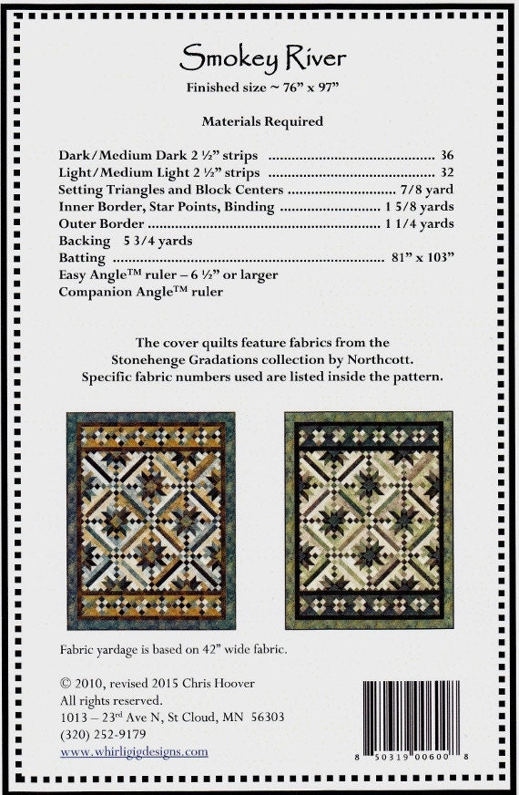 Smokey River Quilt Pattern 76 X 97 By: : smokey river quilt kit - Adamdwight.com
