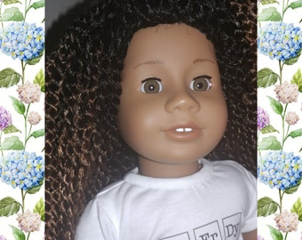 One of a kind American girl doll with braids