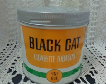 Vintage Black Cat Tin Vintage Cigeratte Tin Vintage Tin Cigarette Black Cat Tin Vintage Tin Vintage