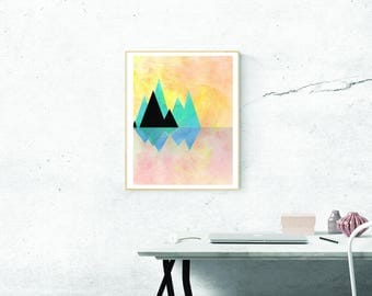Printable Download - Triangle Mountains