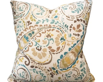 Kravet Floral Decorative Pillow Cover - Thom Filicia - Both Sides - 12x16, 12x20, 14x24, 16x16, 18x18, 20x20, 22x22, 24x24