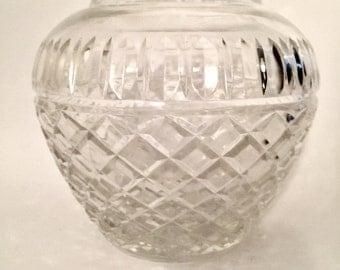 VINTAGE LEAD CRYSTAL Vase Globe