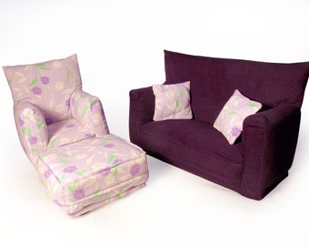 barbie doll furniture 9 pc living room set by carrinnystudios