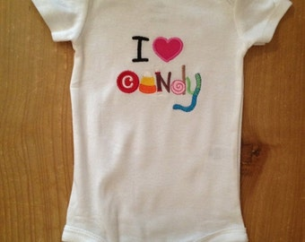 I Love Candy Shirt or Baby Bodysuit