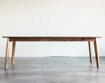 Mid Century Solid Walnut Dining Table
