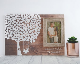 Wedding Guest Book - Guestbook Alternative - Rustic Guest Book - Custom Guest Book - Unique Wedding Guest Book Tree