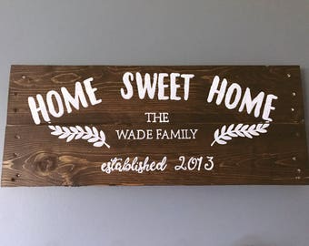Wood Sign Rustic Sign Family Sign Handmade Sign Hand Painted Sign