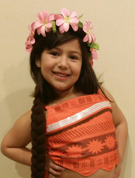 Disney Moana Braided Yarn Hair Kids Wig