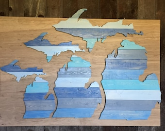 Michigan Wall Art home decor proudly hand-made in the mitten statethewoodnwall