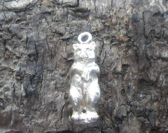 Sterling Silver Hoffmeister Follow the Bear Charm Pendant